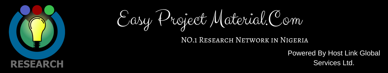 Easy Project Materials Website, Free Research Project Topics And Materials